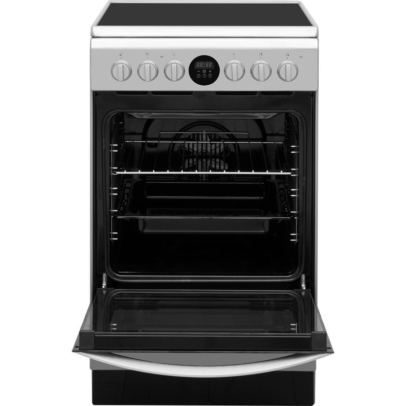 Indesit-Плита-IS5V5CCX-EU-Inox-Electrical-Frontal-open