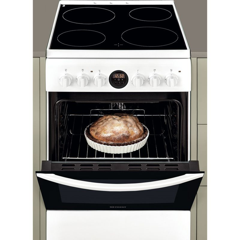 Indesit-Плита-IS5V8CCW-E-Белый-Electrical-Lifestyle-frontal-open