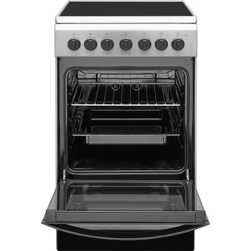Indesit-Плита-IS5V4PHX-RU-Inox-Electrical-Frontal-open